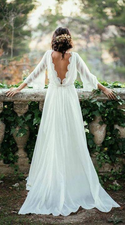 Fabulous Cheap White Beach Wedding Dress, Long Wedding Gown,SW58 ...