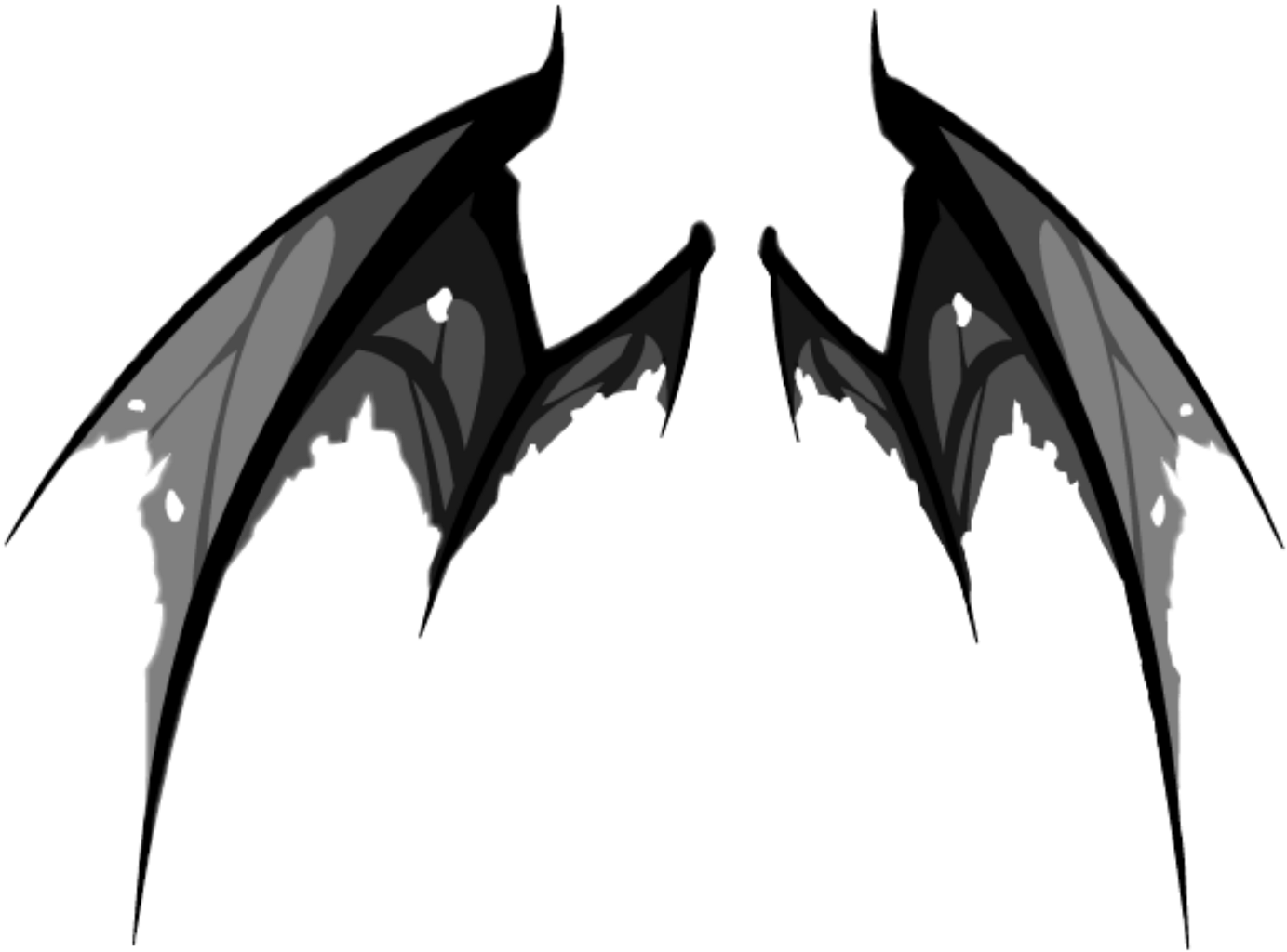 Good And Evil Angel Wings Png By Thy Darkest Hour Angel Wings Png Wings Png Angel Wings Tattoo On Back