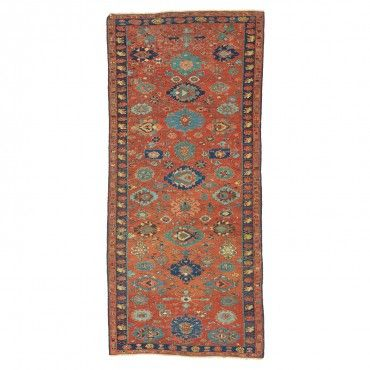 Antique Caucasian Wool Rug - 4 x9 2