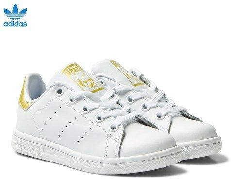 white and gold stan smith kids