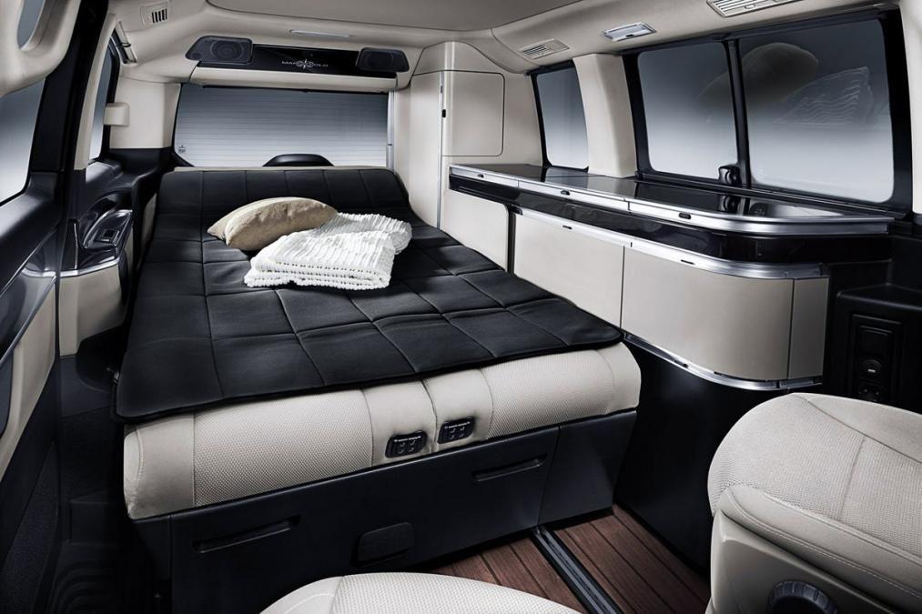 Mercedes Benz Marco Polo Interior Bed Luxury Campers Pop Top Camper Campervan Rental