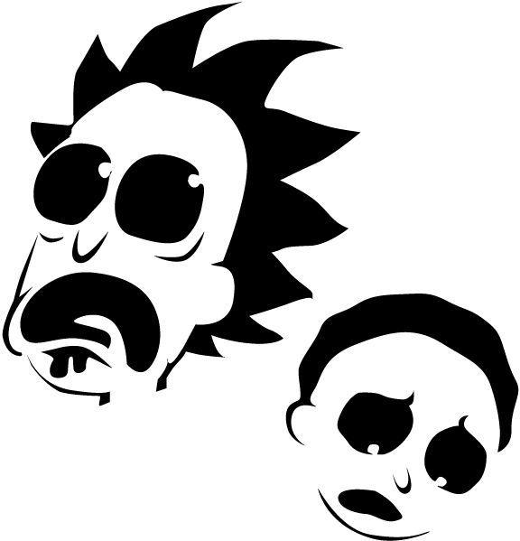 Rick and Morty Pumpkin Stencil | Autumn | Pinterest | Stenciling