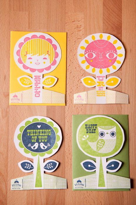 Garden Party Cards. Igloo letterpress