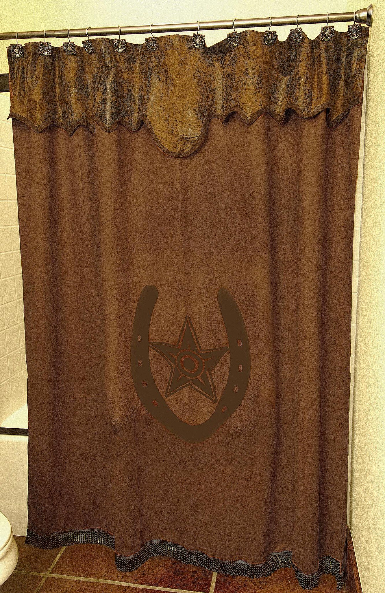 Shower Curtain Western Bathroom Decor Western Home Decor Primitive Bathrooms