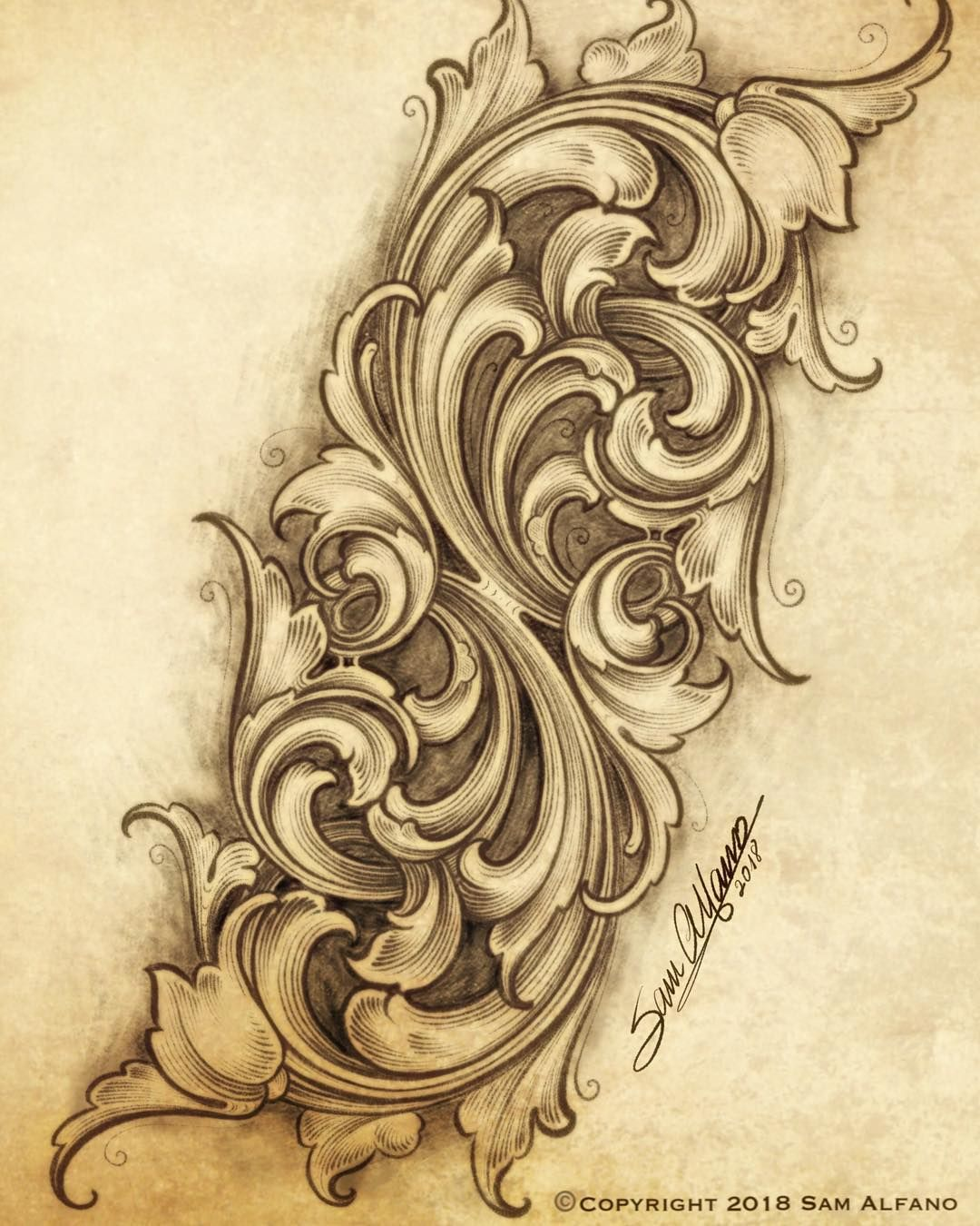 Master Engraver Woodworking Ornaments Illustrator Ornament Woodcarving Tattooideas Carving Scrollwork Filigree Tattoo Scroll Tattoos Ornament Drawing