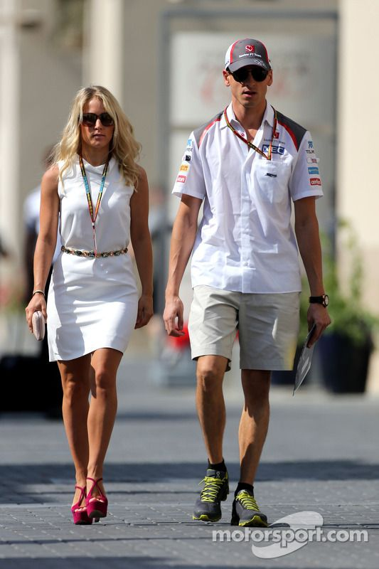 Adrian Sutil Sauber F1 Team And His Girlfriend Jennifer Becks