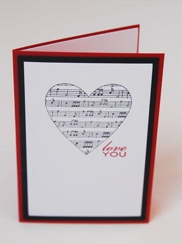 Idea For A Diy Valentine Card For Music Teacher With Images