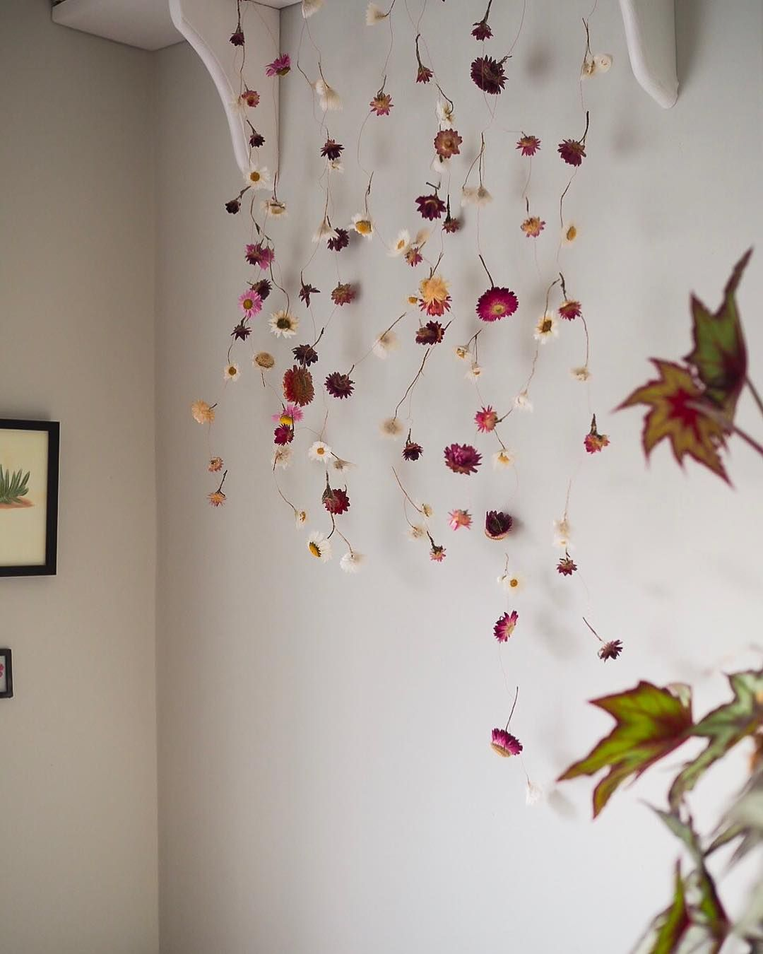 Suspended Dry Flowers Make The Perfect Backdrop