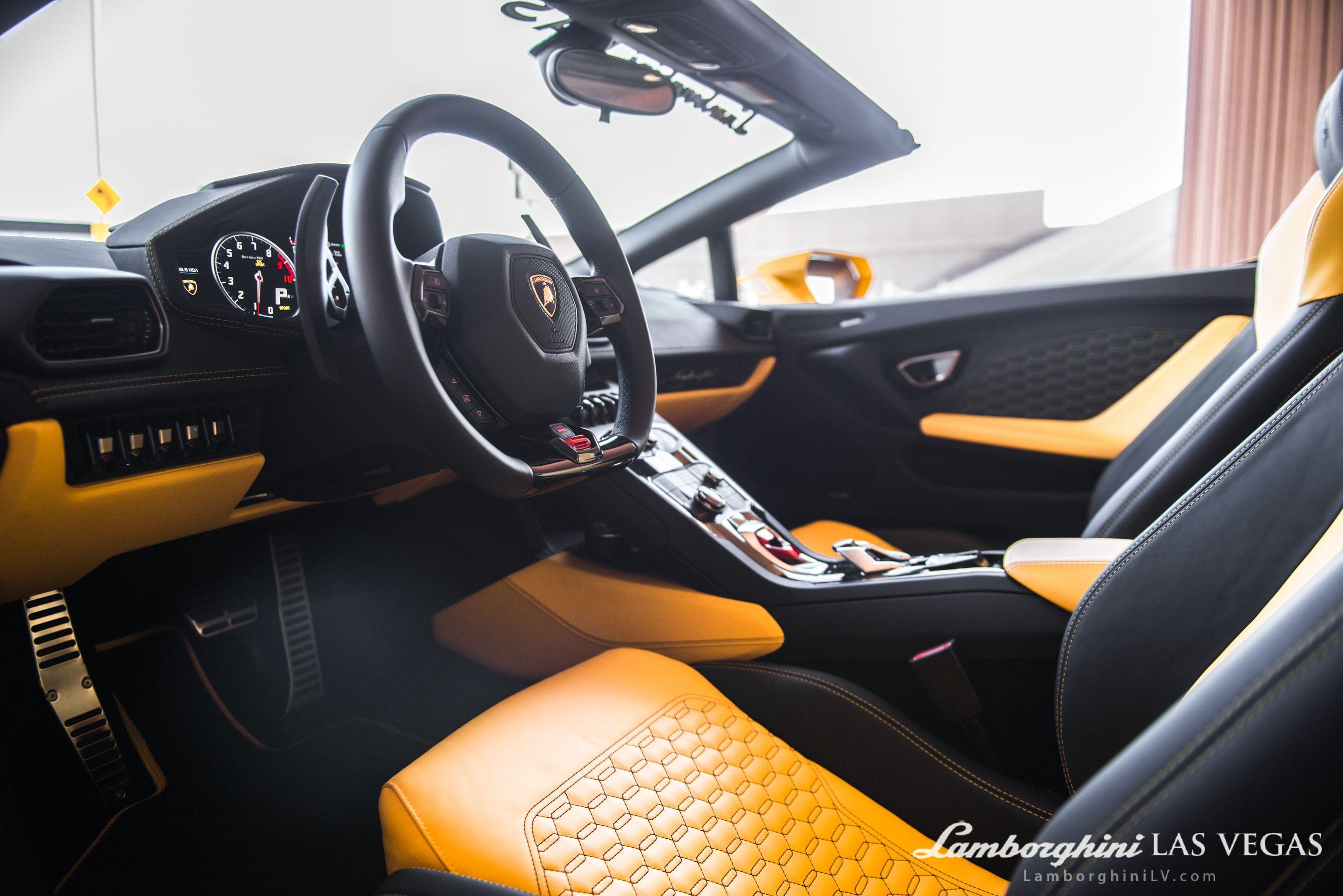 2017 Lamborghini Huracan Spyder Lp610 4 Convertible Nero Ade Giallo