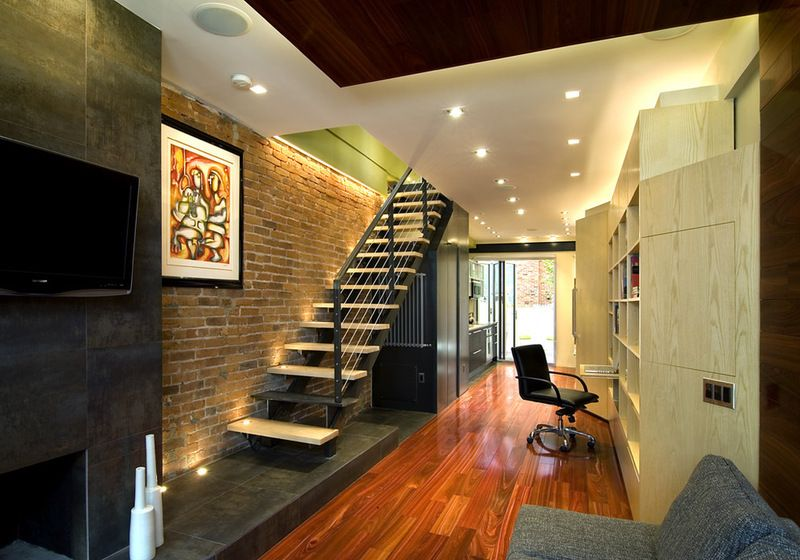 10 ft wide row house transformation - contemporary by KUBE ...
