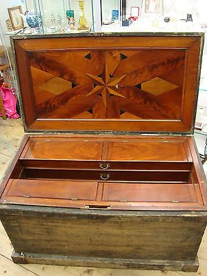 Antique Victorian Carpenters Cabinet Makers Tool Chest Fabulous Inlay Wood Tool Box Antique Woodworking Tools Antique Hand Tools