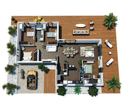 Modèle de maison Villa Hortense -  Retrouvez tous les types de - plan de maison design