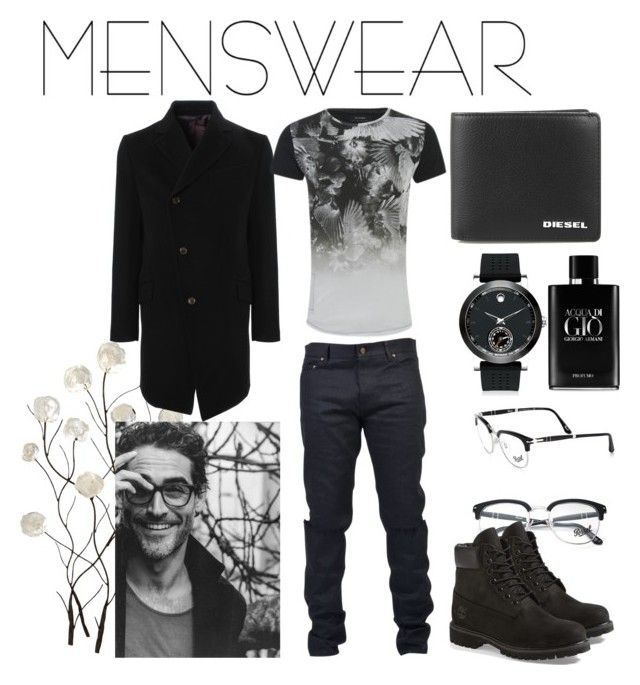 """""""Untitled #181"""" by nata0 ❤ liked on Polyvore featuring Universal Lighting and Decor, Yves Saint Laurent, Diesel, Movado, Giorgio Armani, Persol, Vivienne Westwood Man, Timberland, Religion Clothing and men's fashion"""
