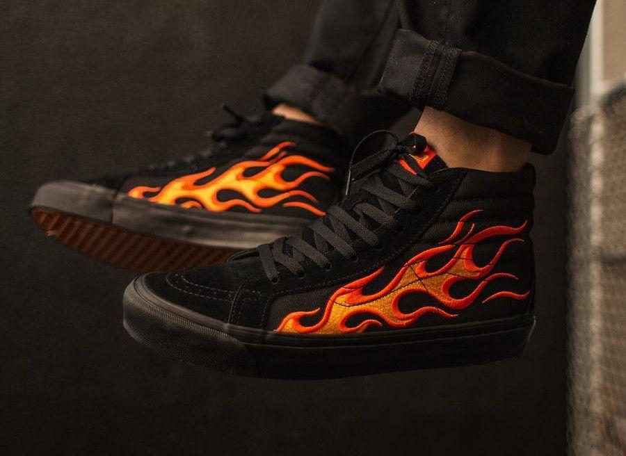 chaussure vans flammes