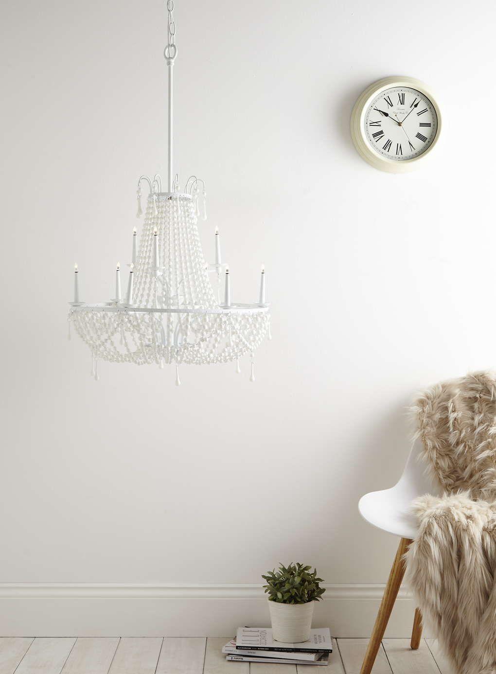 White Thea Chandelier Light