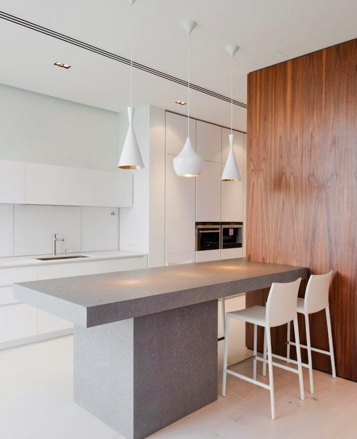 De 30 cocinas modernas peque as llenas de inspiraci n - Cocinas modernas pequenas alargadas ...