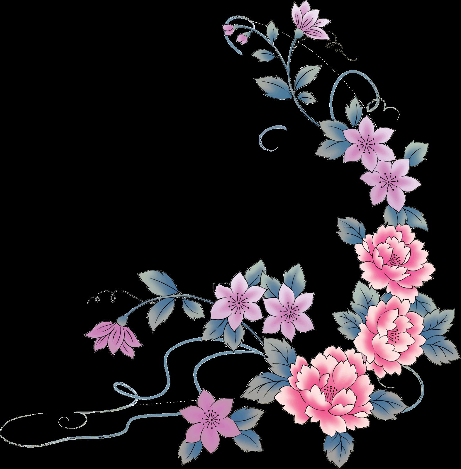 Resultado de imagen para de marcos de flores decoraci n for Mural de flores y mariposas