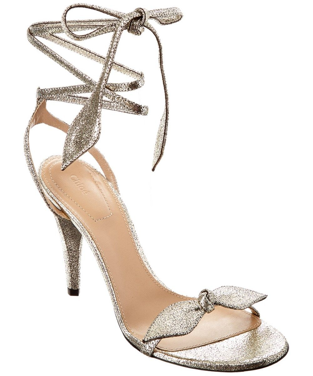b57274313dd CHLOÉ Chloe Mike Metallic Leather Wrap Sandal .  chloé  shoes  sandals