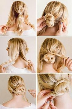 Easy Hairstyles For Medium Length Hair Glamorous 21 Ridiculously Easy Hairstyles You Can Do With Spin Pins  Medium