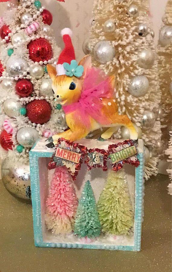 Vintage Kitschy Christmas Decoration Ceramic Deer Figurine | BOXES ...