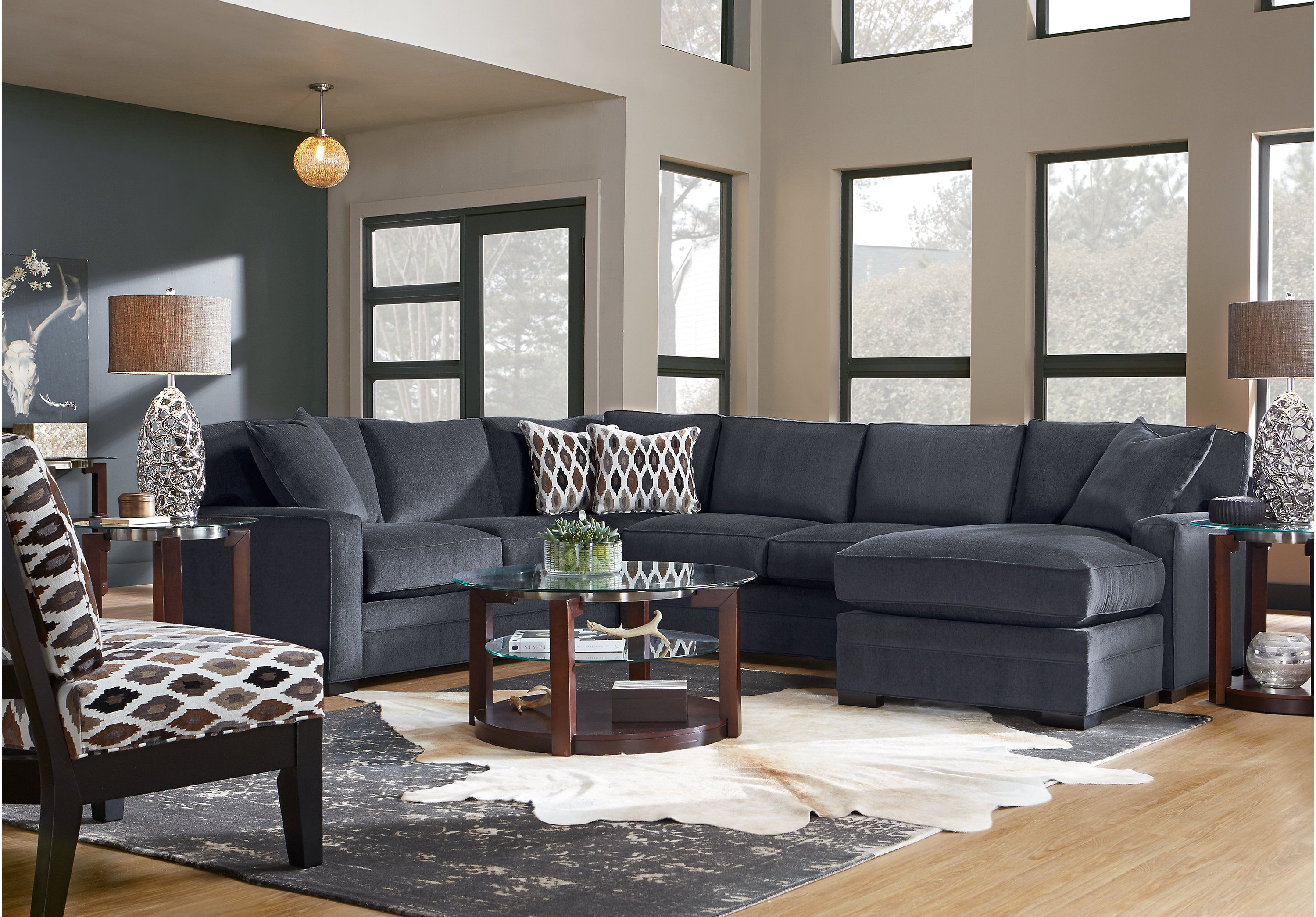 Best Highpoint Charcoal 2 Pc Sectional In 2019 Grey Walls 640 x 480