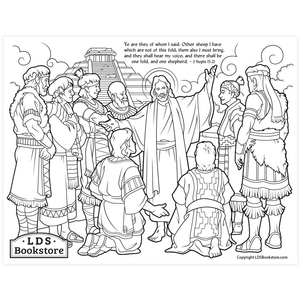 Other Sheep I Have Coloring Page Printable Coloring Pages Jesus Coloring Pages Lds Coloring Pages