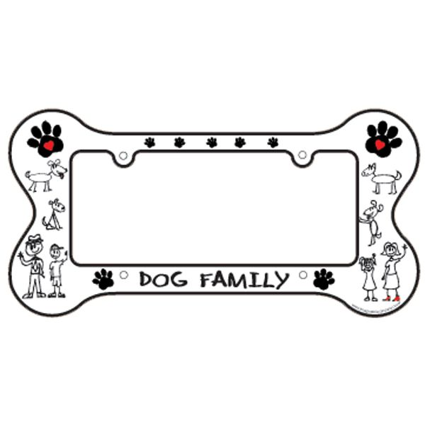 bone shaped license plate frame dog family bark avenue by cucciolini - Dog Frame
