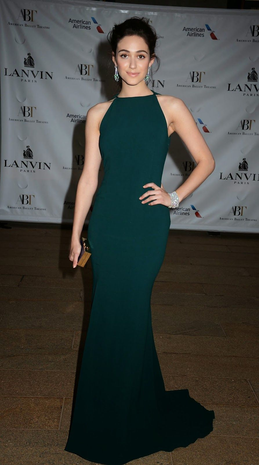 cf30ada1b0 Emmy Rossum is seductive in Lanvin at the 2014 American Ballet ...