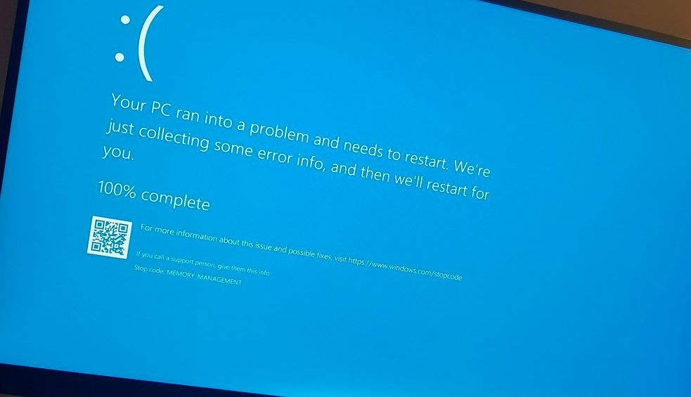 Solved: Memory Management BSOD (ntoskrnl exe) Error on