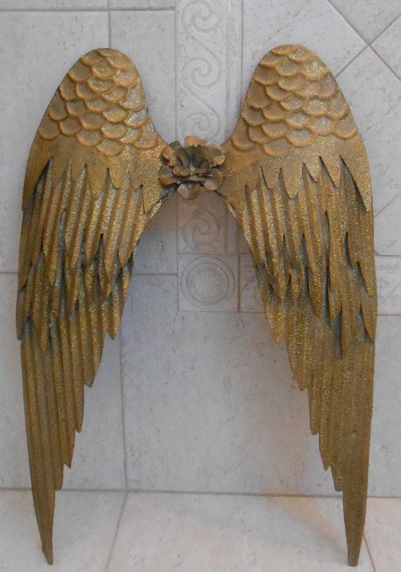 Gold Angel Wings Gold Metal Angel Wings By