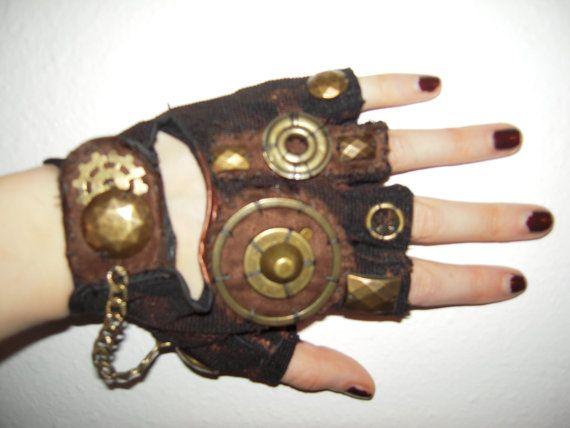 Etsy Steampunk Glove Pair 27 Style Steampunk Diy Steampunk