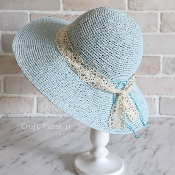 Crochet Beach Hat (Wide Brim) • Free Crochet Pattern #crochethats