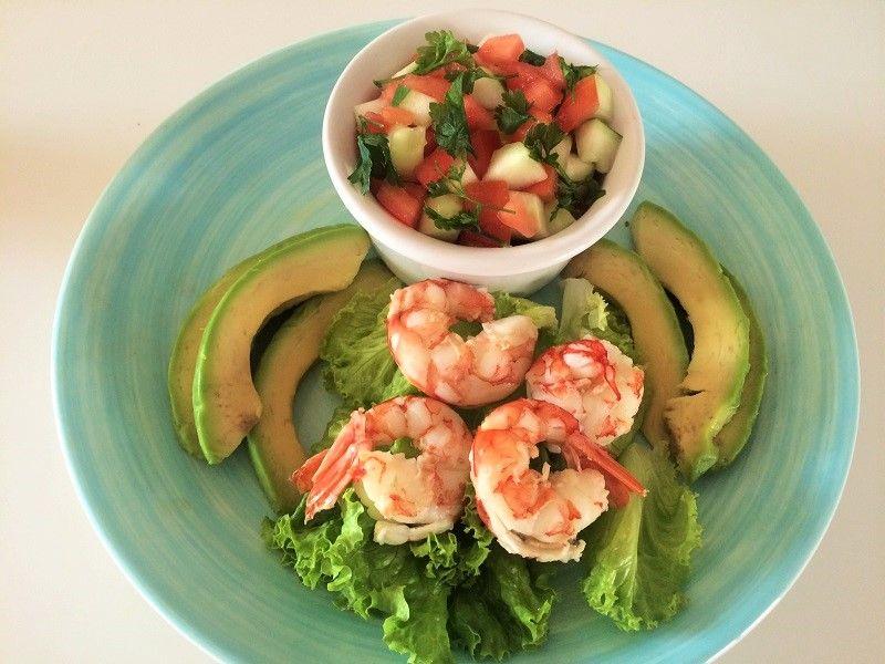 Salada de camarão - Nutrição com Coração