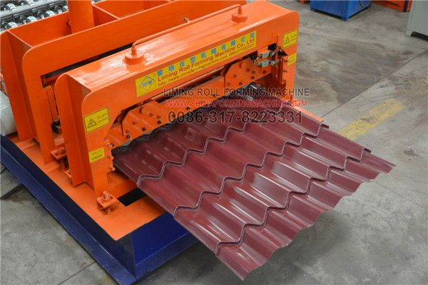 Glazed Tile Roll Forming Machine Is Made Of Manual Decoiler Main Roll Forming Device Cutter Electrical Co Metal Shed Roof Steel Roof Panels Glazed Tiles