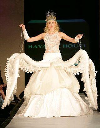 Worst Wedding Dress Ever Octopus Tentacles Victoria Secret