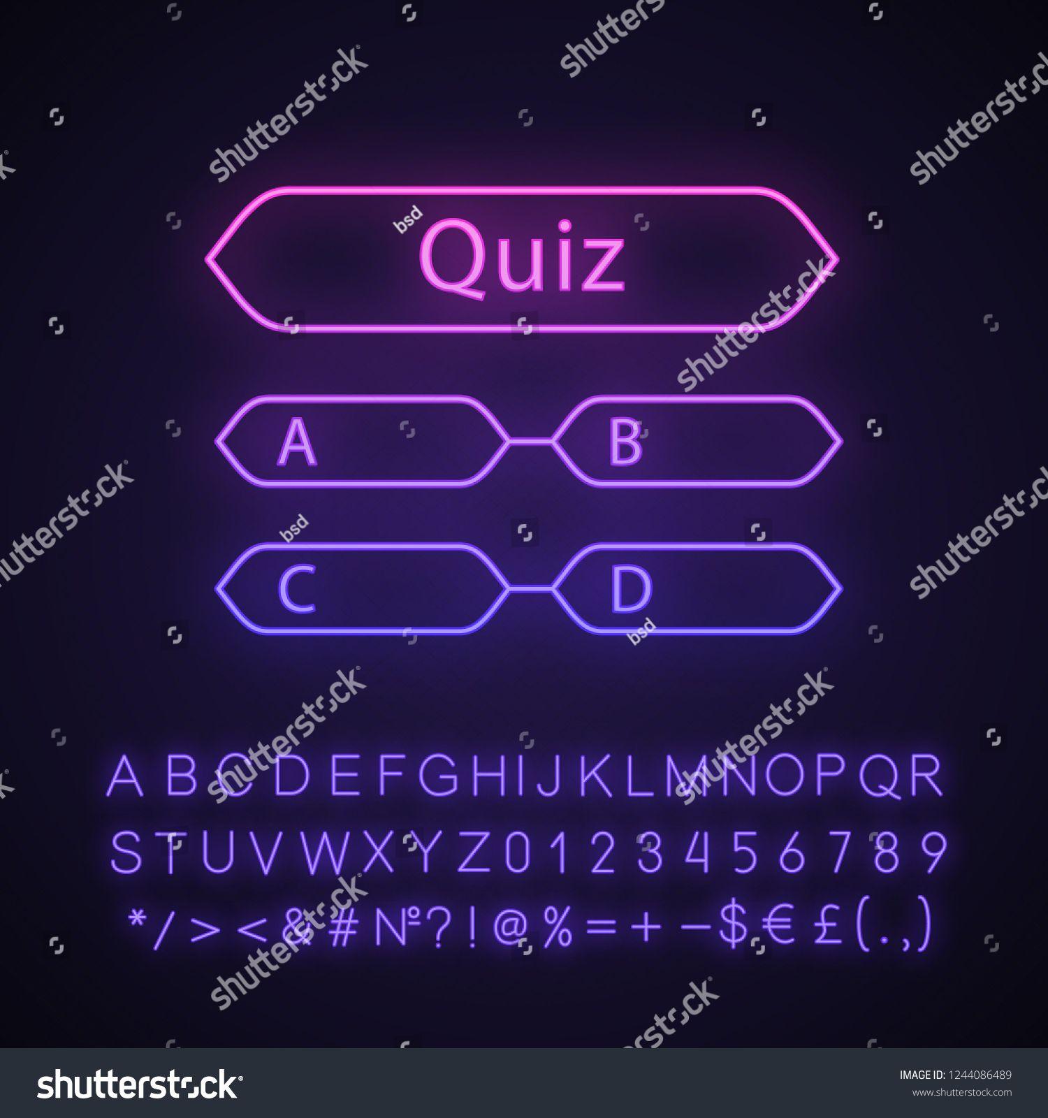 Quiz question neon light icon. Intellectual game. Trivia
