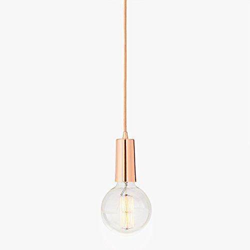 Rose Gold Single Bulb Hanging Pendant Light With Vintage Https