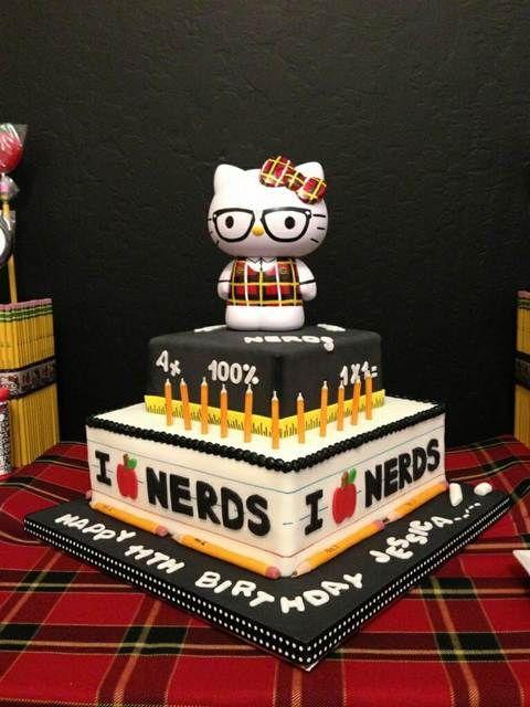 Hello Kitty Nerd Birthday Party Ideas Nerd Birthday Hello Kitty