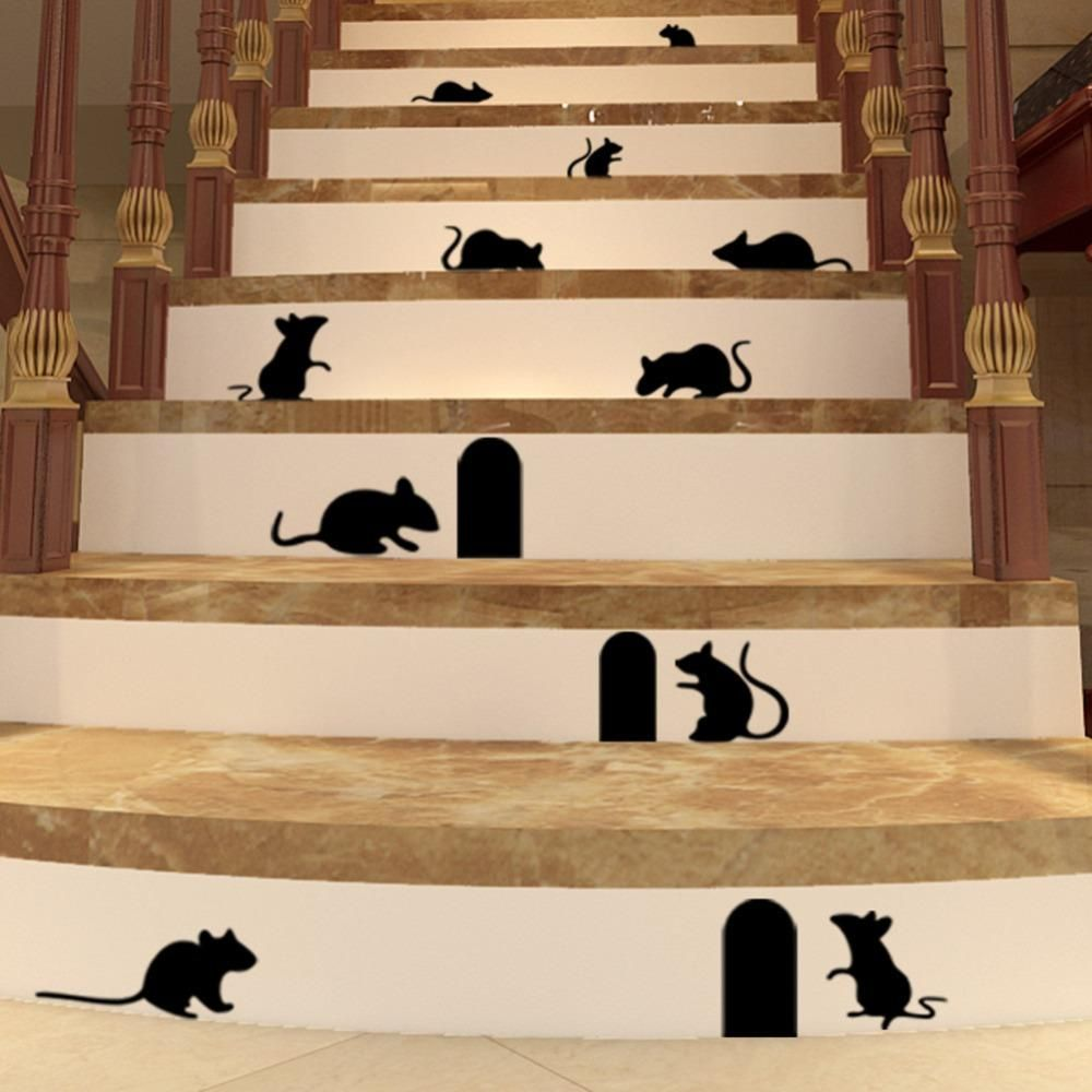 Best 189 Funny Mouse Hole Wall Stickers Creative Rat Hole 400 x 300