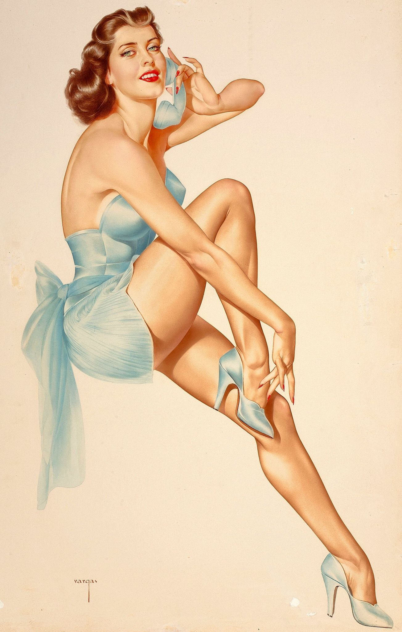 Pin Up Girls By Alberto Vargas What Really Inspires Varga Is Pin Up