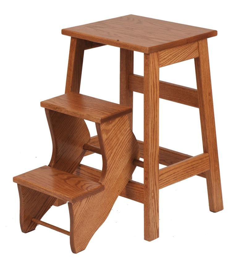 Amish Made Wooden Folding Step Stool 5155 Furniture