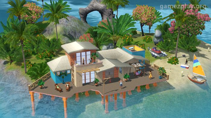 In the new Sims 3 Island Paradise, you can build beach houses - new sims 3 blueprint mode