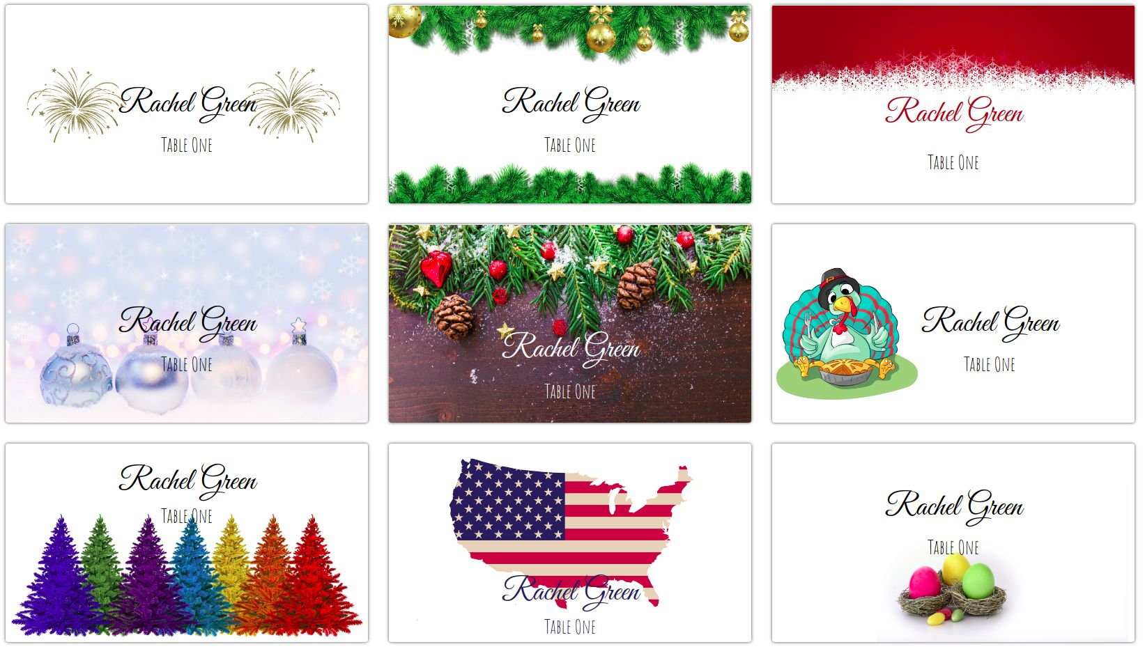 The Amusing Making Your Own Holiday Place Cards At Home Place Card Me Within Christmas
