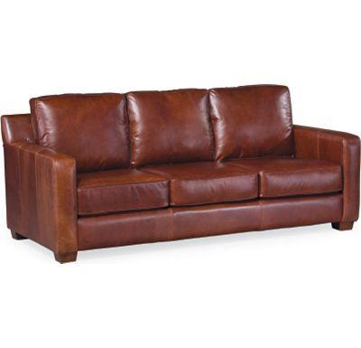 Metro Leather Sofa In Dark Chocolate Brown Thomasville