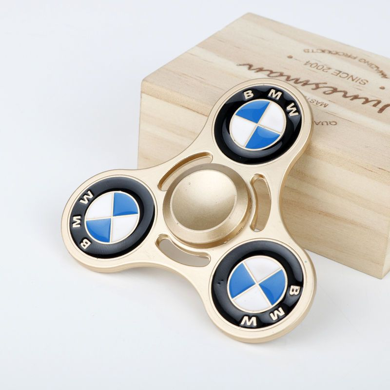 Bmw gold Spinner Fid Hand finger Toy Auto Logo Car Stress cars