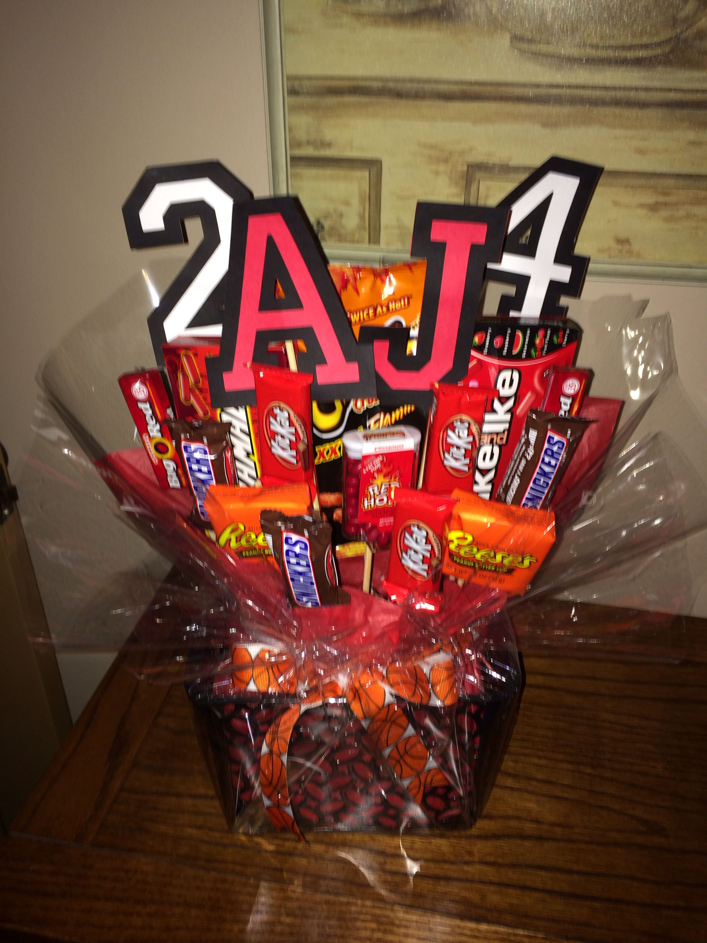 Basketball player treat basketball player gifts senior
