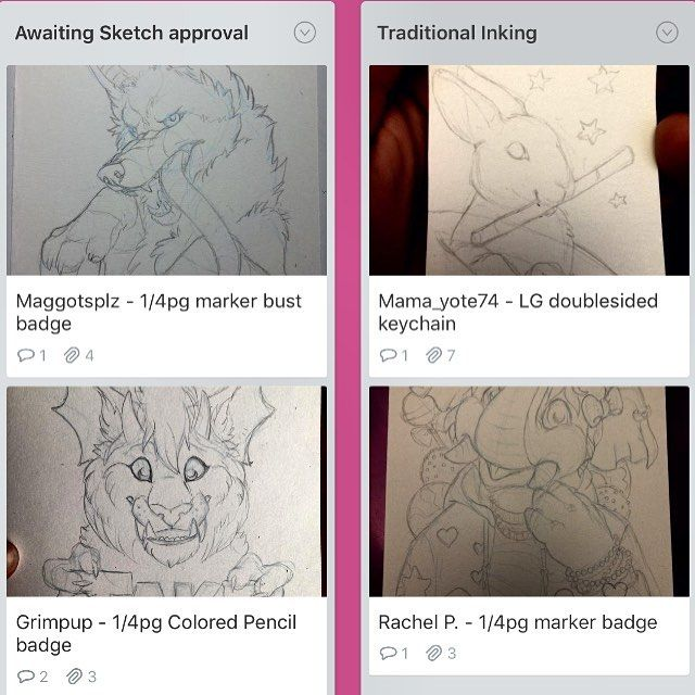 Had a stressful/painful day at the doctor but now it's time to take it easy get in a happy place and hopefully be artistic/productive. :) Still awaiting approval from my last two AnthroCon customers so I'm going to start working on @mama_yote74 and Mochi the elephant. Trello commission queue: http://ift.tt/2b4uL1k