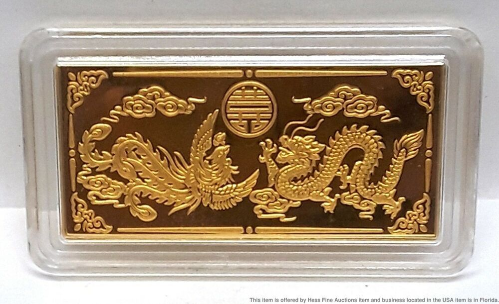 Chinese Dragon 10g 9999 Gold Bar In 2020 Chinese Dragon Gold Bar Gold Bullion Bars