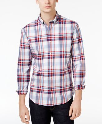TOMMY HILFIGER Tommy Hilfiger Men'S Marcus Plaid Cotton Shirt. #tommyhilfiger #cloth #down shirts