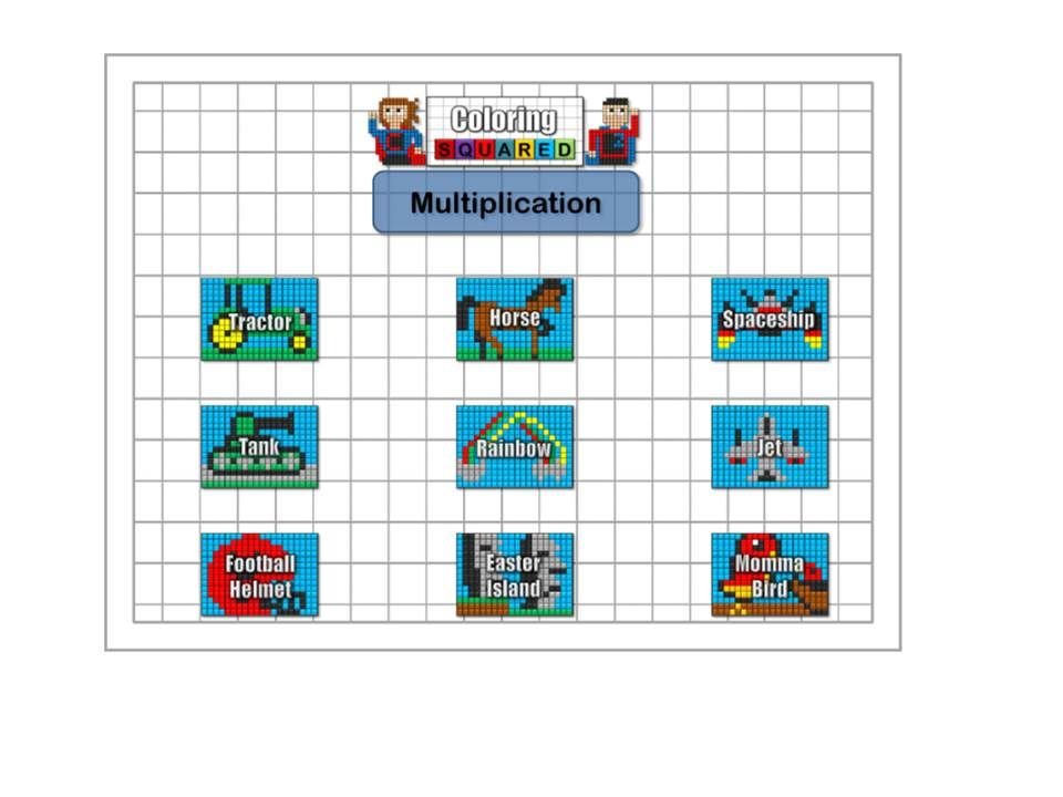 Multiplication And Division Multiplication Color